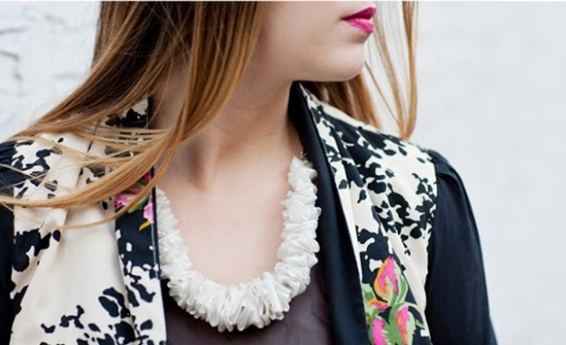 Picture Of Super Cute DIY Ribbon Necklace 4