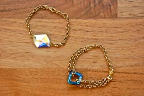 Super Easy-To-Make DIY Swarovski Bracelet