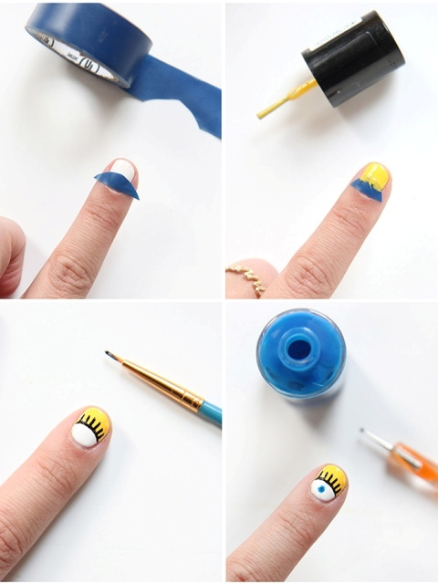 Picture Of Super Funny DIY Open Eyed Nail Art 3