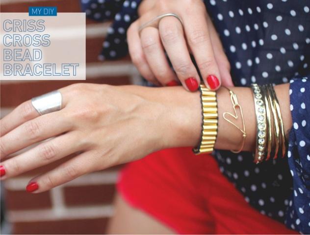 Super Stylish DIY Criss Cross Bead Bracelet