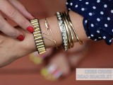 Super Stylish DIY Criss Cross Bead Bracelet3