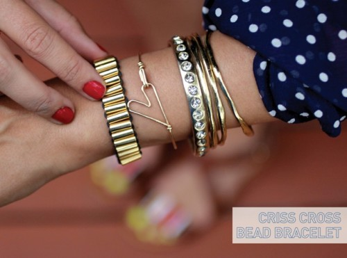 Super Stylish DIY Criss Cross Bead Bracelet