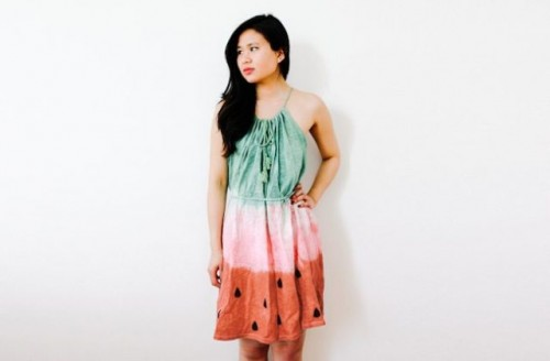 Cheerful DIY Watermelon Dress For Summer