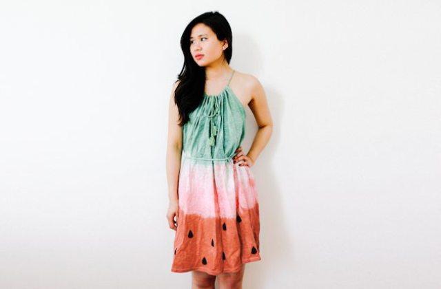 Unique DIY Watermelon Dress