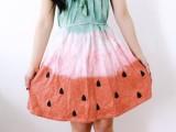 Unique DIY Watermelon Dress13