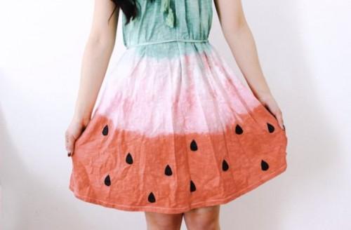 Cheerful DIY Watermelon Dress For Summer