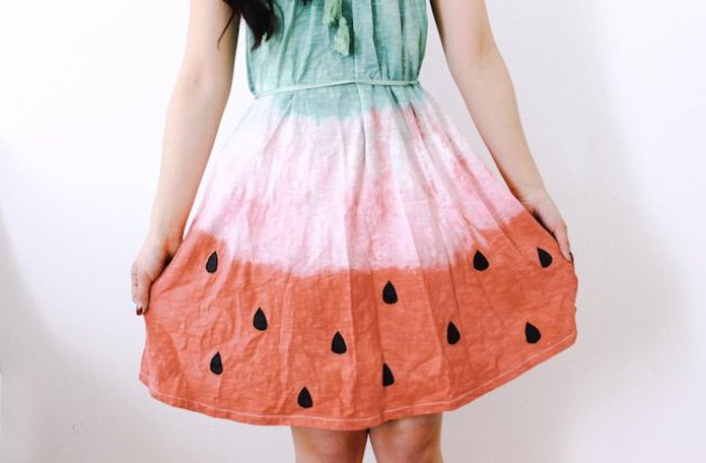 Picture Of Unique DIY Watermelon Dress 13