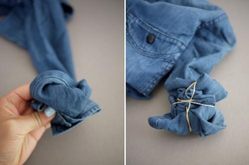 Unusual DIY Tie Dye Denim