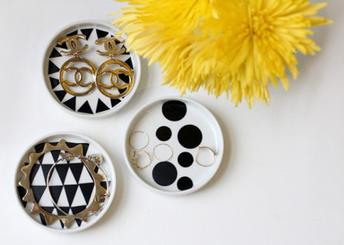 Beautiful DIY Geometric Jewelry Dish