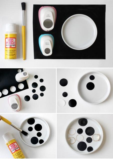 Beautiful DIY Geometric Jewelry Dish