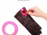 Very Easy DIY Heart-Print Gloves 4
