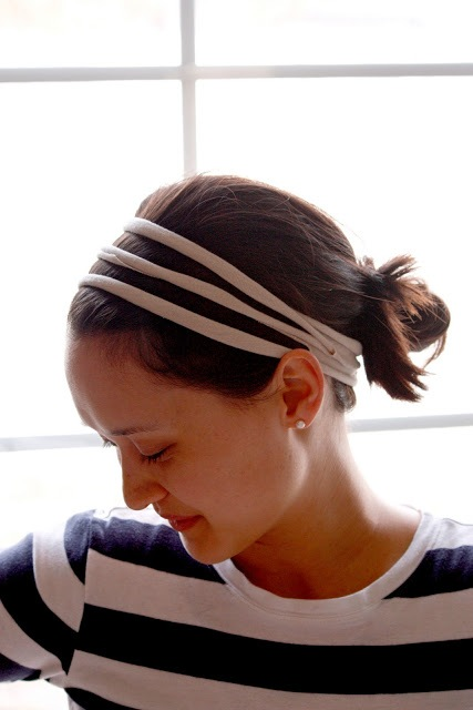 Very Easy-To-Make DIY No-Sew T-Shirt Headband