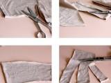 Very Easy-To-Make DIY No-Sew T-Shirt Headband2