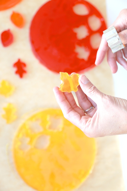 Picture Of adorable diy autumn leaf soaps  5