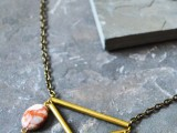 stone and brass necklace