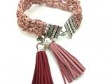 crochet tassel bracelet