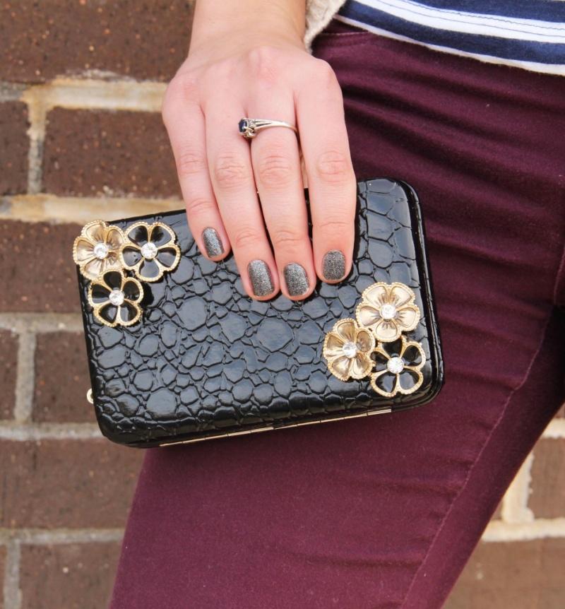 chic embellished clutch