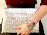 silver elastic clutch