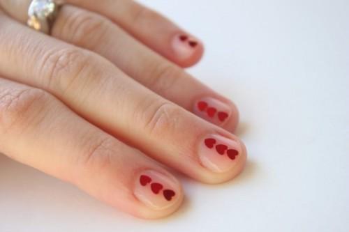 Adorable DIY Valentine's Day Inspired Nail Polish