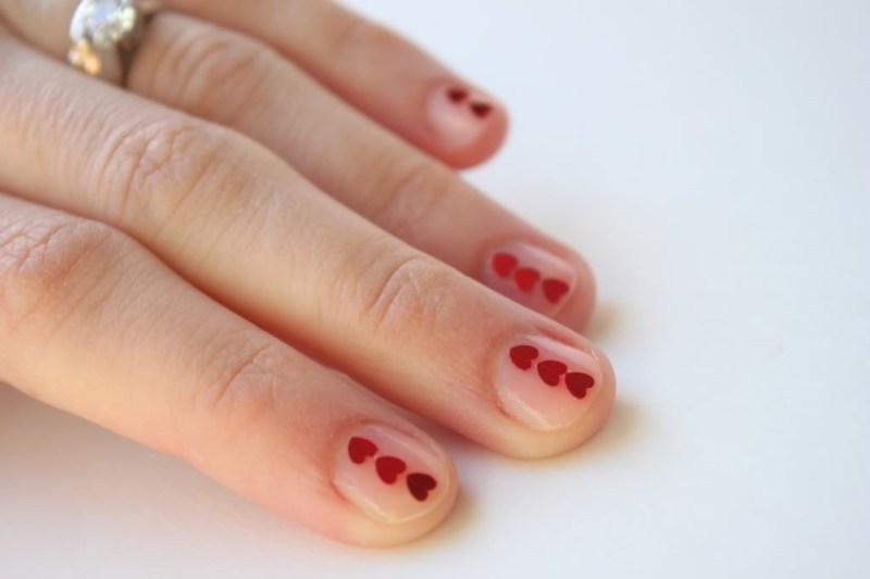 Picture Of adorable diy valentines day inspired nail polish  3