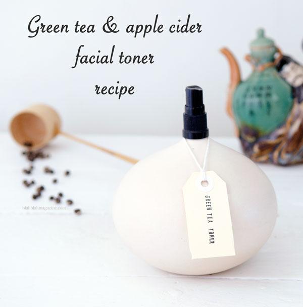 green tea and apple cider toner