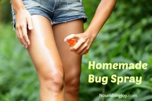 vodka and vinegar bug spray (via nourishingjoy)