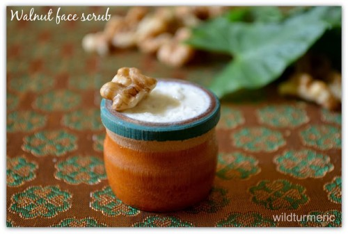 walnut face scrub (via wildturmeric)