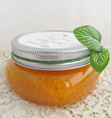 grapefruit, honey and salt scrub