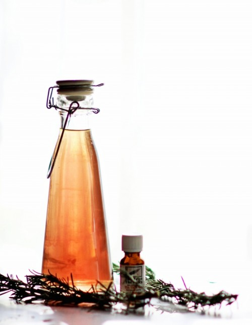 All-Natural Rosemary Tea Tree Mouthwash
