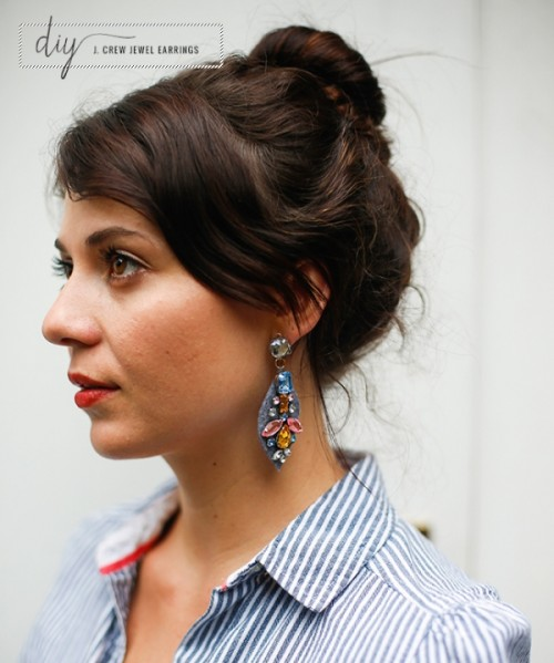 Amazing DIY J. Crew Inspired Felt Jewel Earrings
