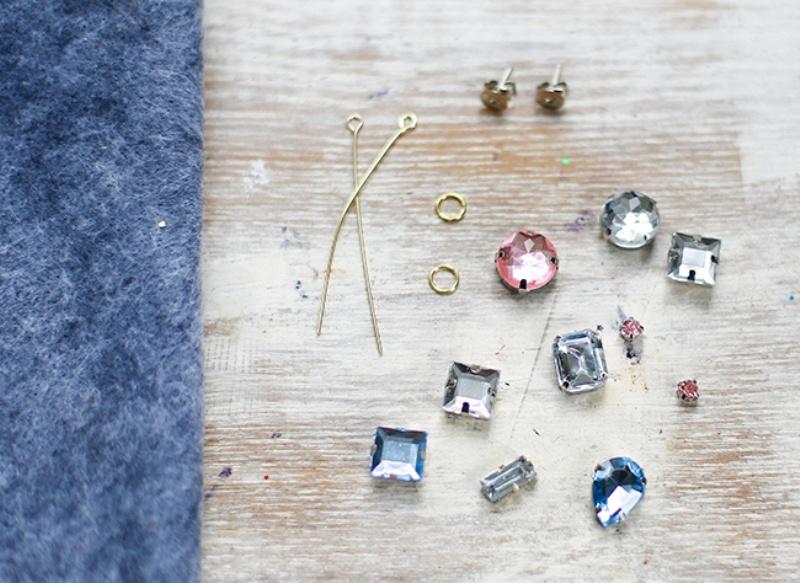 Picture Of amazing diy j crew inspired felt jewel earrings  2