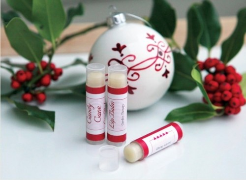 A Perfect Christmas Gift: DIY Candy Cane Lip Balm