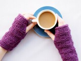 pretty knitted hand warmers