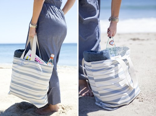 easy beach bag (via somethingturquoise)