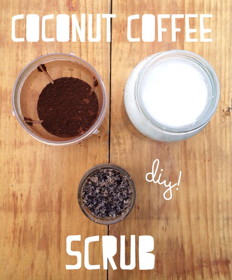 sugar, coconut and coffee cellulite scrub