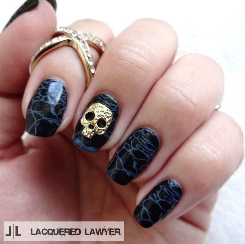 Picture Of awesome diy dark waters nail art for halloween  1