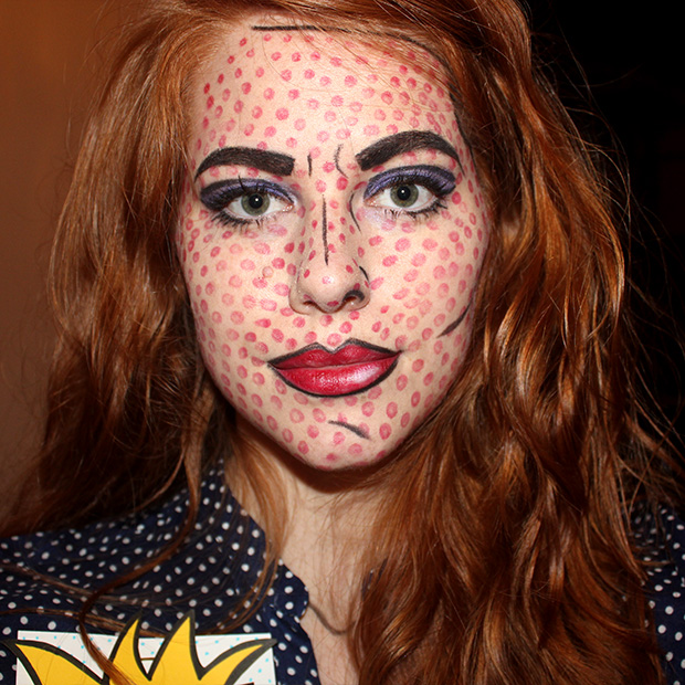 picture of pop art girl makeup 15 awesome diy awesome diy makeup
