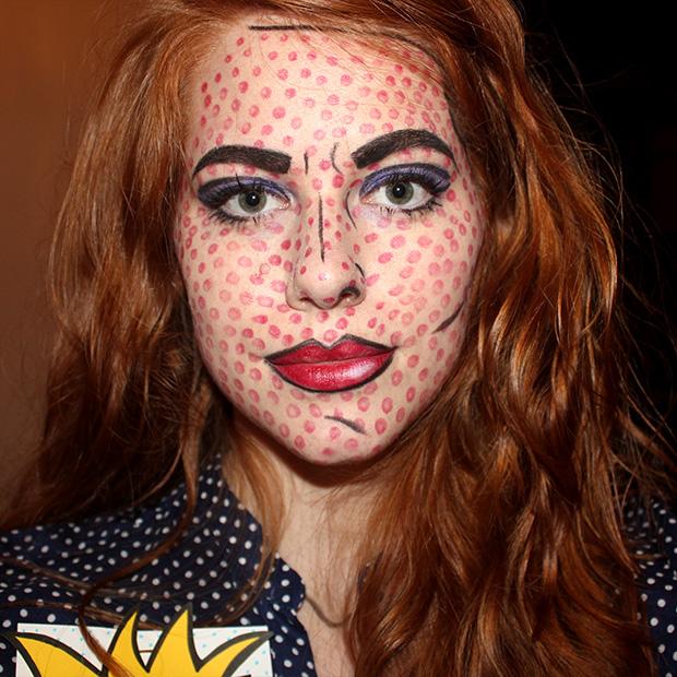 pop art girl makeup