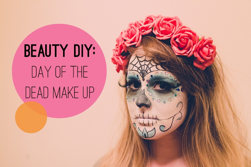 stunning day of the dead makeup with gems
