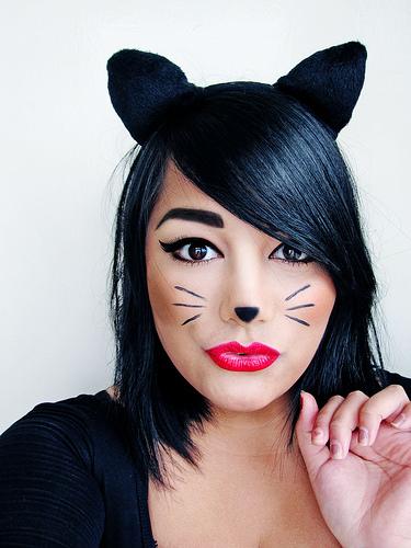 playful kitty makeup via blissfullydomestic awesome diy makeup