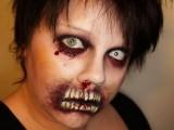 brain eating zombie makeup