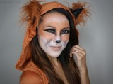 pretty fox Halloween makeup