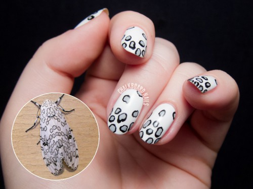 Awesome DIY Leopard Moth Print Nail Art