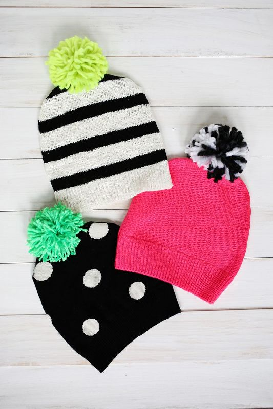 Picture Of awesome diy pompom hat from an old sweater  1