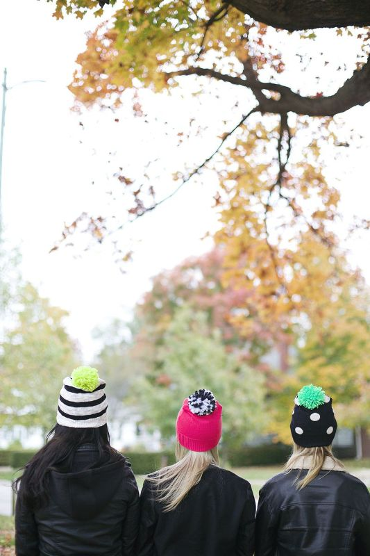 Picture Of awesome diy pompom hat from an old sweater  2