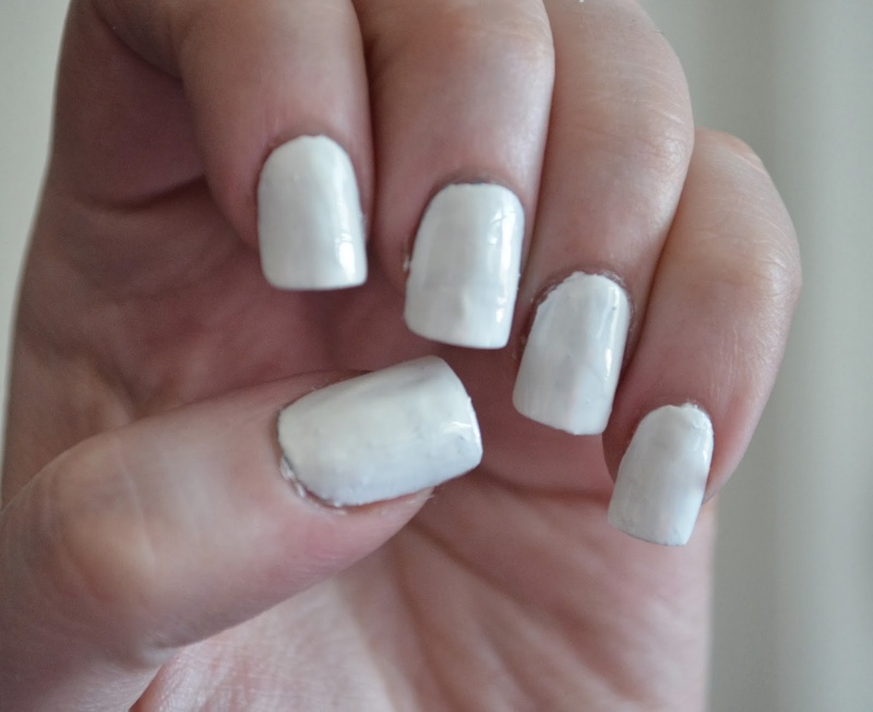 Picture Of awesome diy snowflake nail art  2