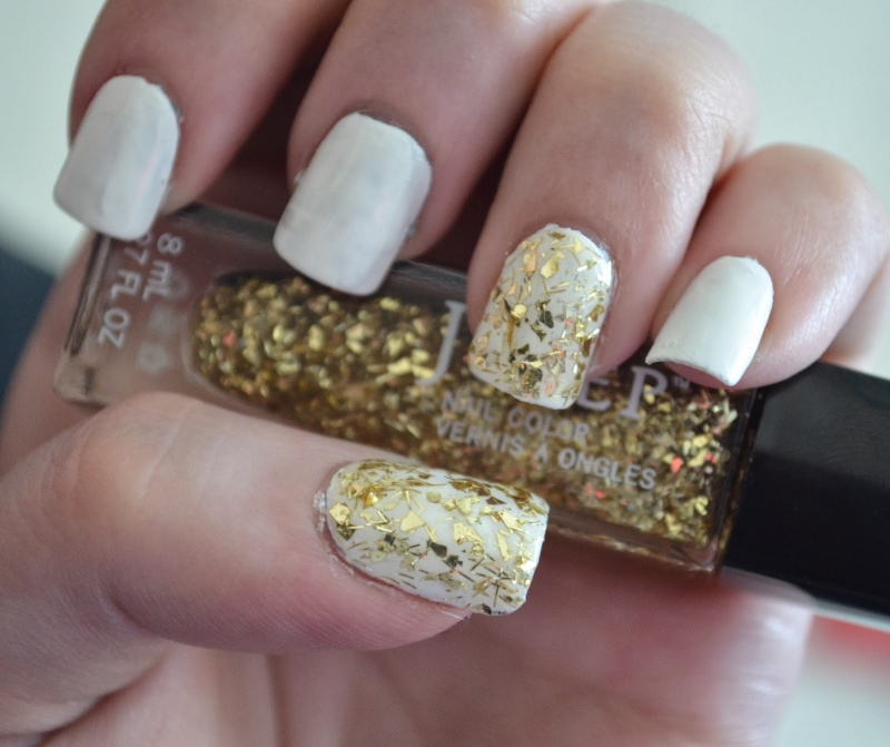 Picture Of awesome diy snowflake nail art  3