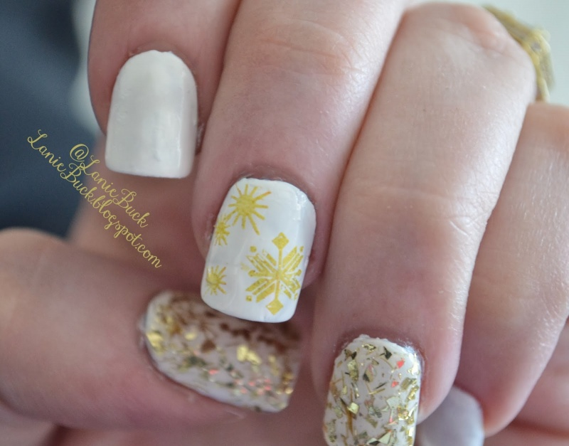 Picture Of awesome diy snowflake nail art  5