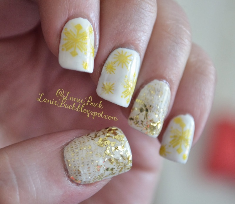 Picture Of awesome diy snowflake nail art  6
