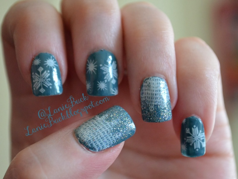 Picture Of awesome diy snowflake nail art  7